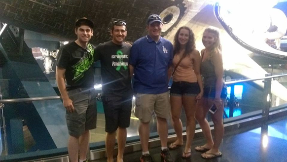 Group Photo in front of Atlantis at the Kennedy Space Center