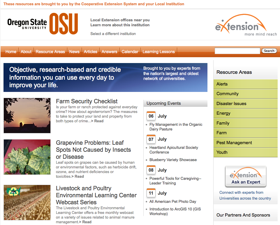 eXtension OSU page
