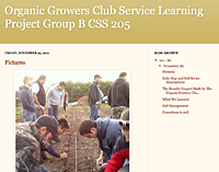 Organic growers club service learning project