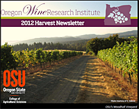 OWRI 2012 Harvest Newsletter