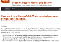 Oregon's People, Places, and Society