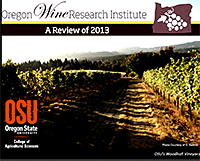 2013 Review - Oregon Wine Research Inst.