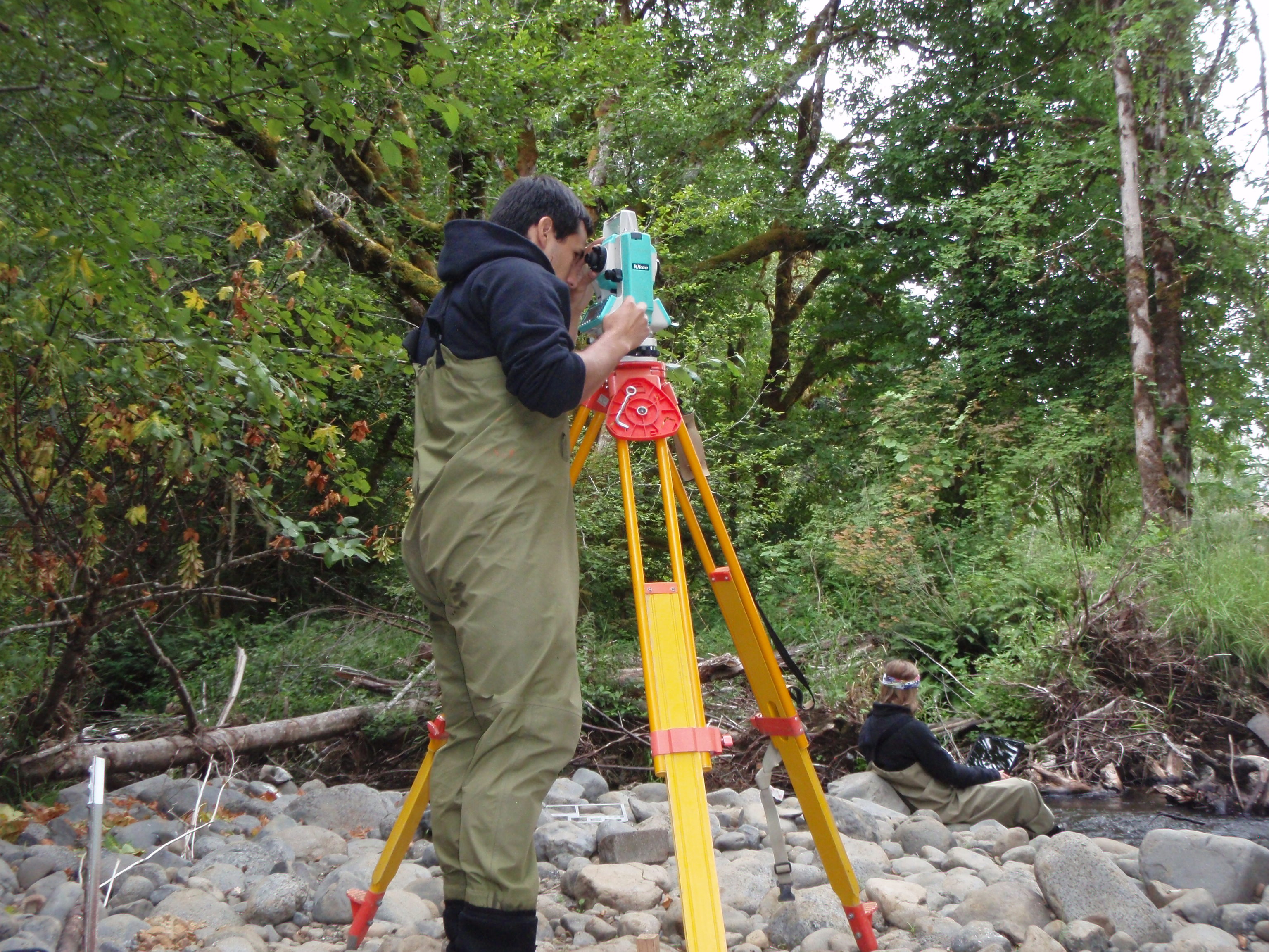 Surveying with a total station
