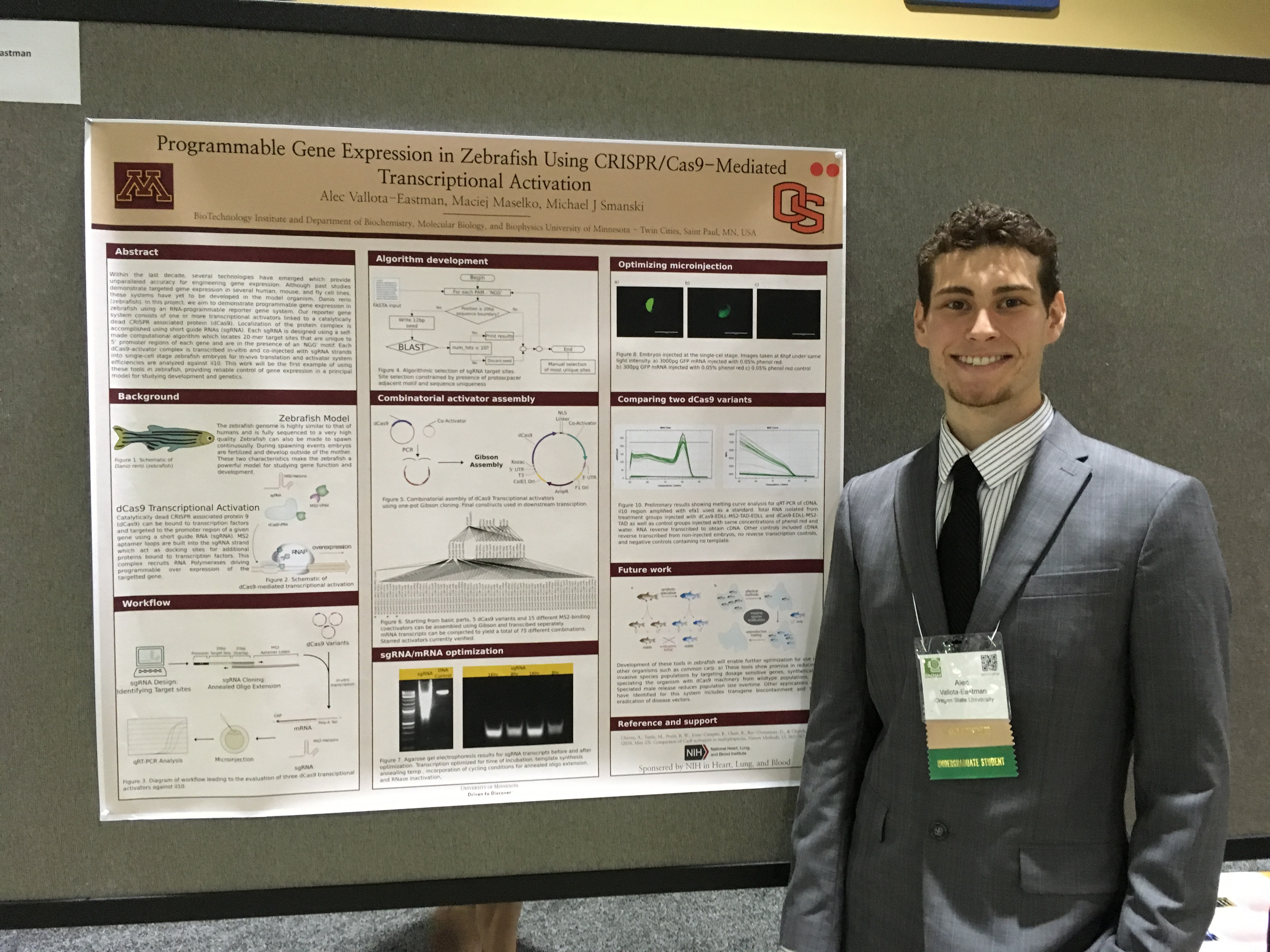Alec Vallota-Eastman, BRR Biotechnology student at the 2016 SACNAS meeting