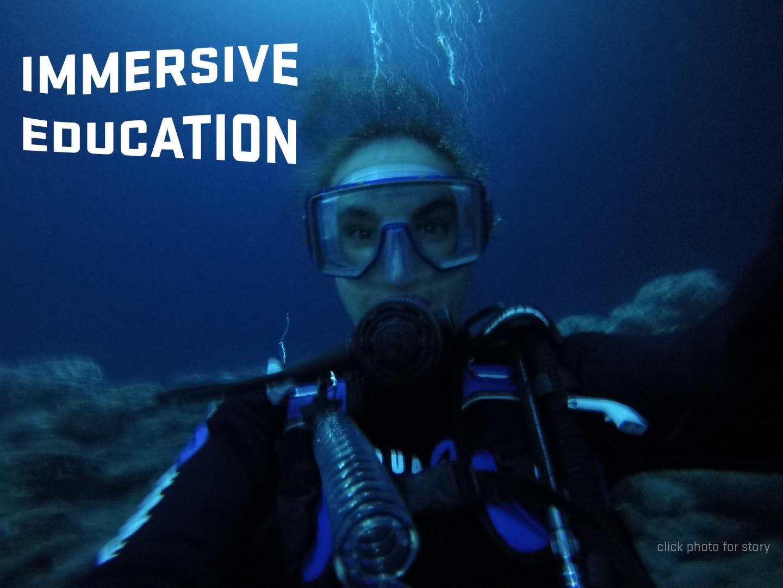Alexandra Avila scuba diving