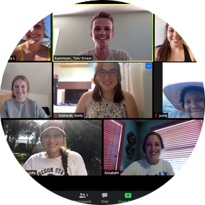 CAS Student Ambassadors using Zoom