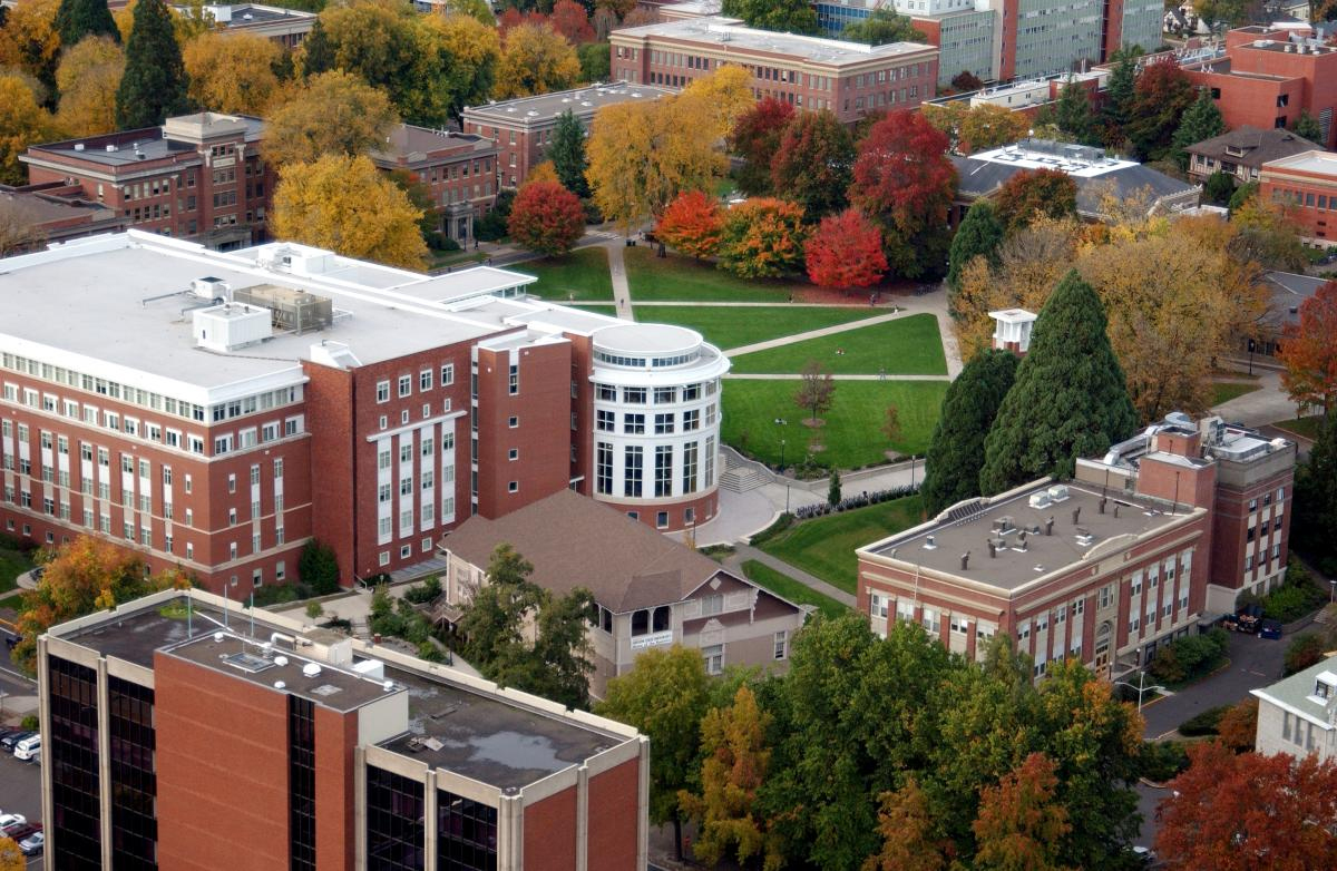 view of Oregon State University campus