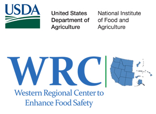 Western Regional Center to Enhance Food Safety logo with USDA & NIF