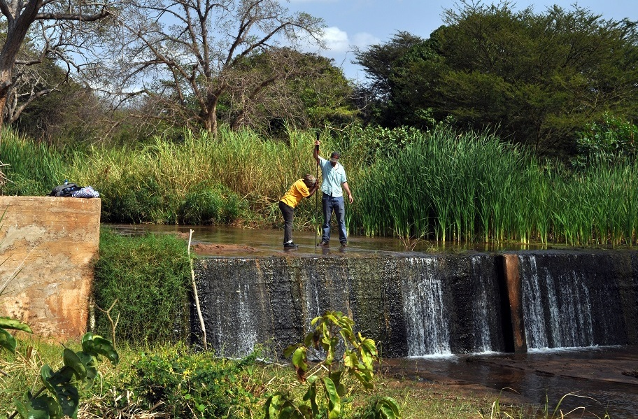Graduate student in Africa performing Water Engineering Research