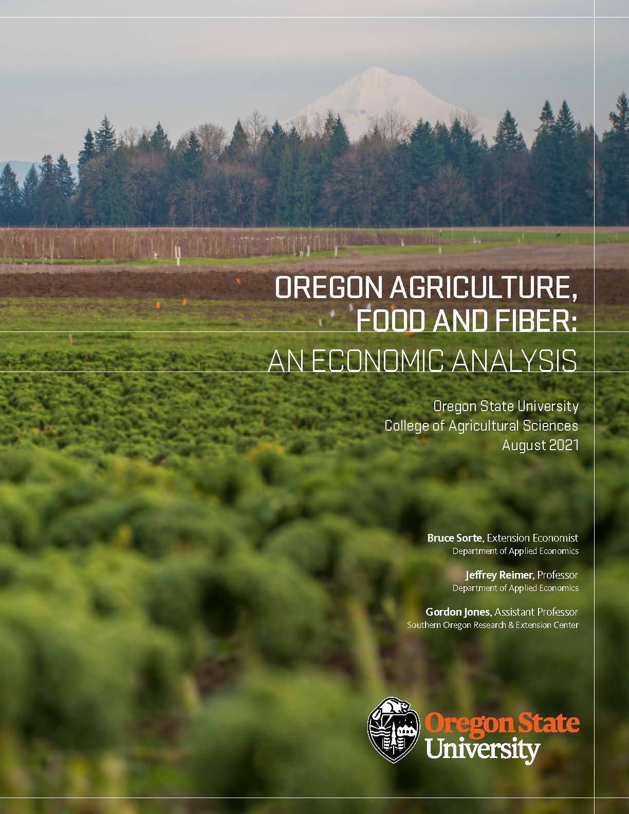 Oregon Agriculture Food and Fiber: An Economic Analysis 2021