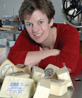 Dr. Lisbeth Goddik, OSU Extension Dairy Specialist, is helping bring a European flavor to Oregon's artisan cheeses. Photo: Bob Rost © 2006 Oregon State University