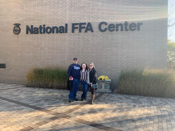 Kate Duggan in front of FFA Building