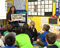 A Yamhill County 4-H Ambassador shares the book with a McMinnville classroom.