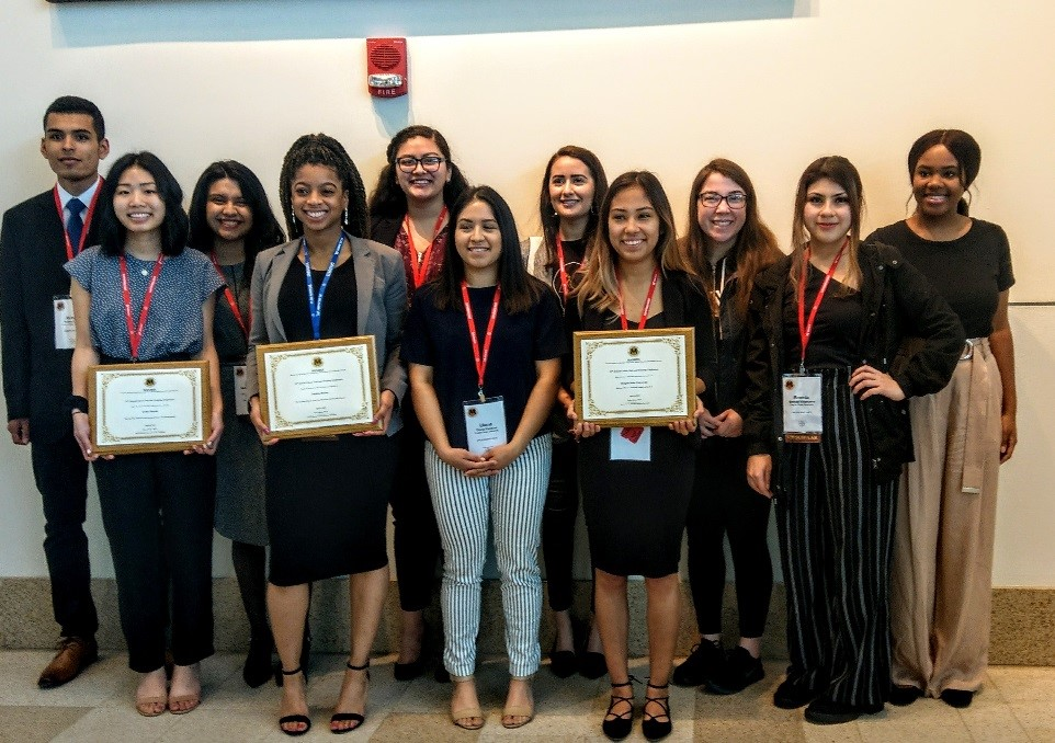Front Row: Celine Huynh, Jasmine Brown, Diana Esparza, Karina Heredia, Brenda Villanueva Back Row: Ruben Lopez, Metzin Rodriguez, Elsa Naranjo, Marisol de La Torre, Jakelyn Santa Cruz, and Logan Quinn (missing from photo: Marie Thompson, Johannah Hamilton