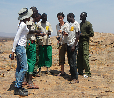 Juliana Masseloux working with locals in Kenya