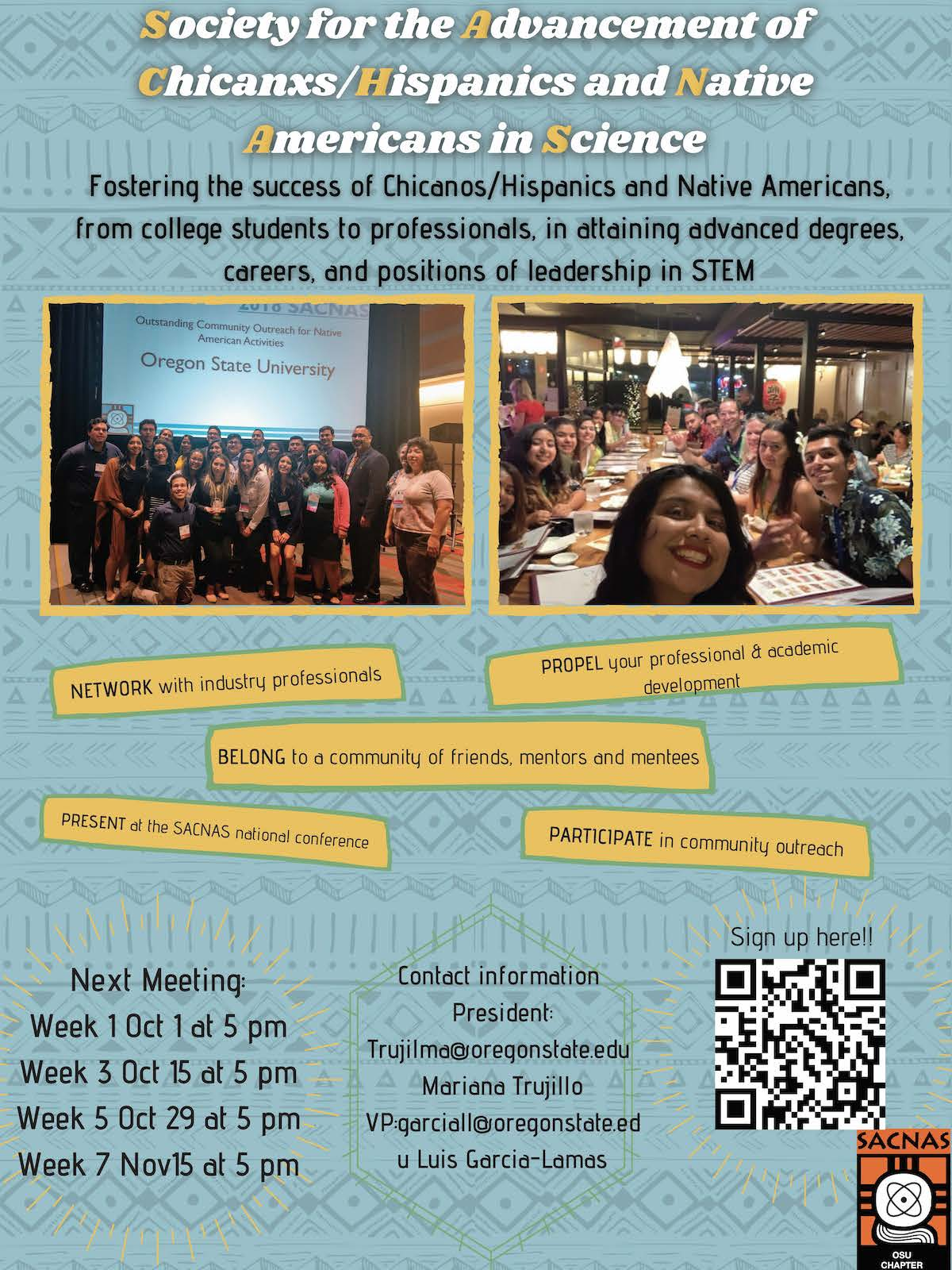 SACNAS - Society for the Advancement of Chicanos/Hispanics and Native Americans in Science