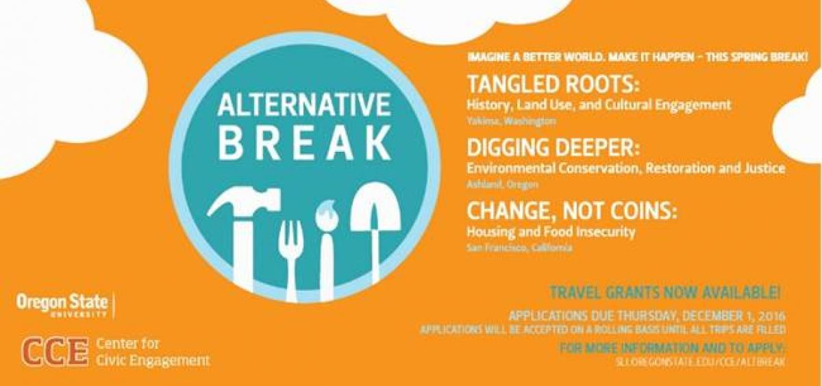 Applications are still available for Alternative Break trips!
