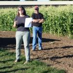 EPA Representatives discussing nitrate leaching project