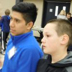 OSU student mentor,  Juan Santiago, and middle school student at challenge