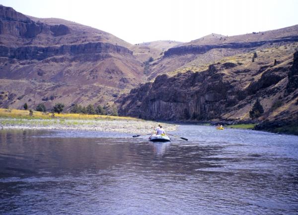 Rafting the John Day River in Oregon.