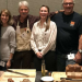 Barley Project members at The Plant Variety Showcase (Oct. 12, 2017, Portland, Ore.) showcase breads made from Buck (and other naked barleys) in the foreground. From left to right: Brigid Meints, Rebecca Hayes, Patrick Hayes, Laura Helgerson, Andrew Ross, and Scott Fisk. Credit: Patrick Hayes.