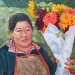 "Featured artwork: Tara Kemp, The Flower Vendor, 2020, Oil, 20"" x 24""."