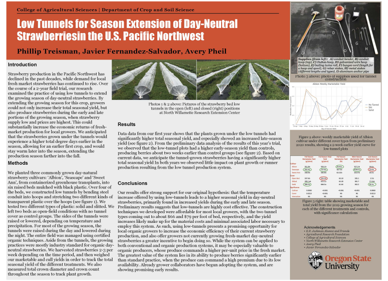 Phillip Treisman: Low Tunnels for Season Extension of Day-Neutral Strawberries in the U.S. Pacific Northwest