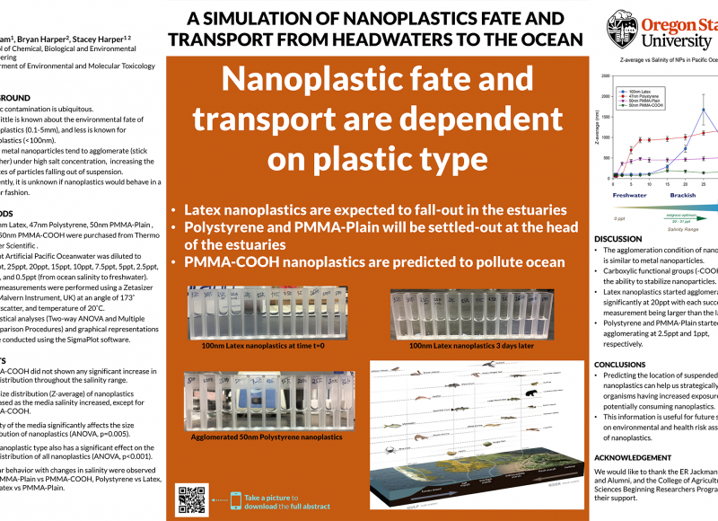 Vy Pham: A simulation of Nanoplastic Fate and Transport from Headwaters to the Ocean