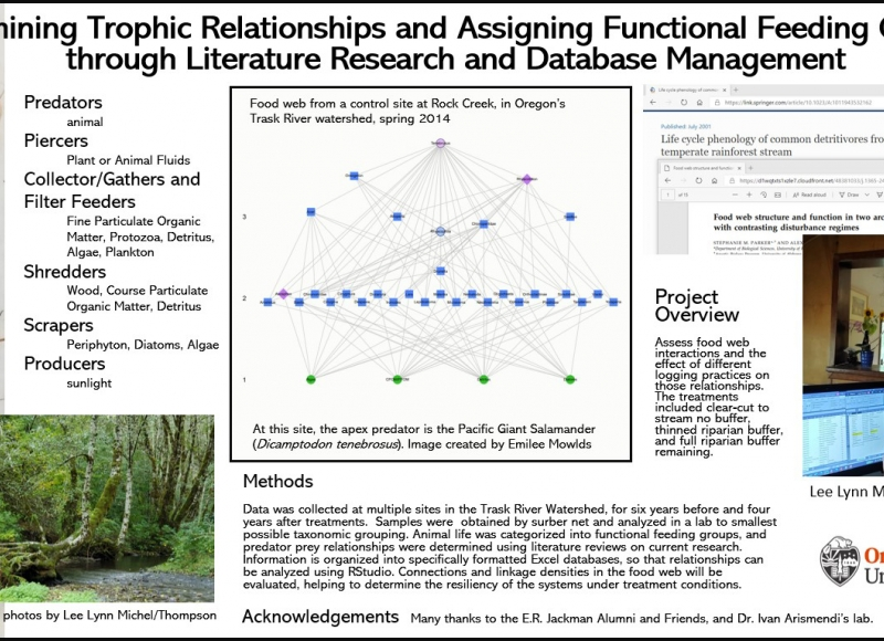 Lee Lynn Thompson: Determining Trophic Relationships and Assigning Functional Feeding Groups through Literature Research and Database Management