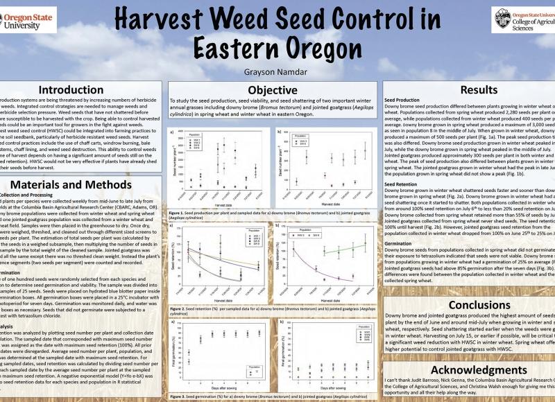 Grayson Namdar: Harvest Weed Seed Control in Eastern Oregon