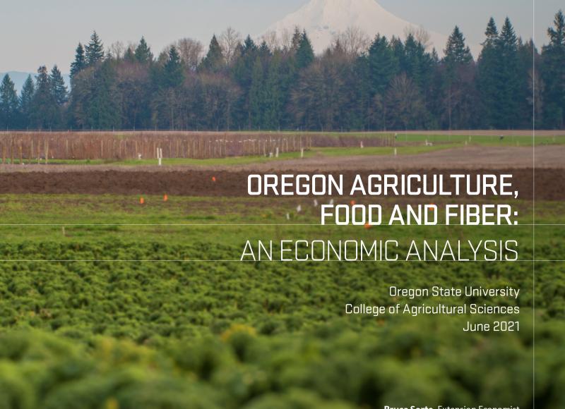 2021 Oregon Agricultural Economic Report cover