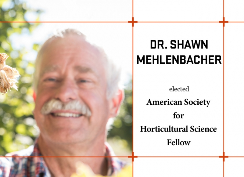 Dr. Shawn Mehlenbacher is among the 2021 class of ASHS Fellows
