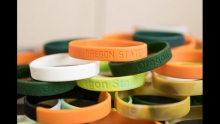 Silicone chemical-sampling wristbands developed by Kim Anderson's lab at OSU monitor exposure to environmental pollutants. (Photo: OSU)