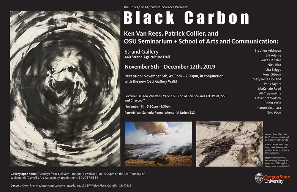 Black Carbon exhibit November 5-December 12 in 440 Strand Agriculture Hall