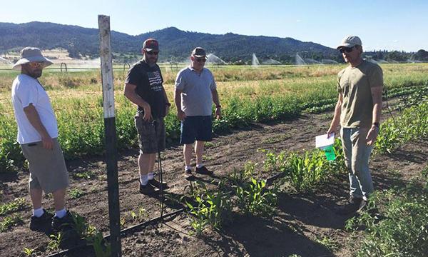 Veterans visit a farm as part of the Growing Agripreneur course through the OSU Small Farms program.