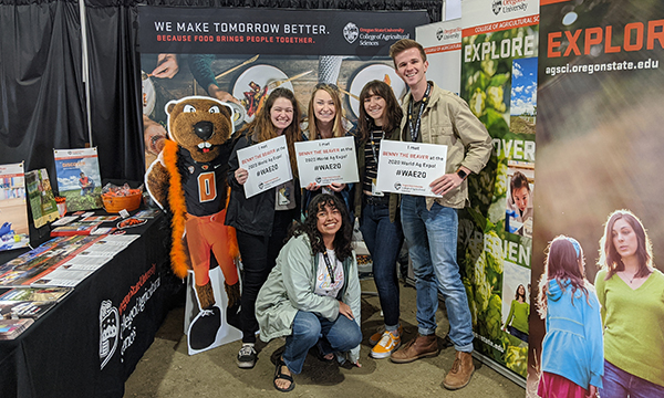 OSU Student booth at the World Ag Expo